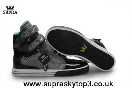 Fast Shipping To Buy Supra Men's High Tops Black Dark Grey Green/White Black Outlet