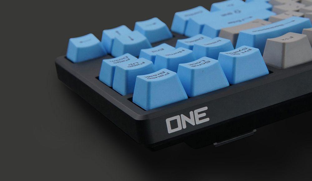 Akko X Ducky 108 Key OEM Profile PBT Retro Grey Blue Keycaps