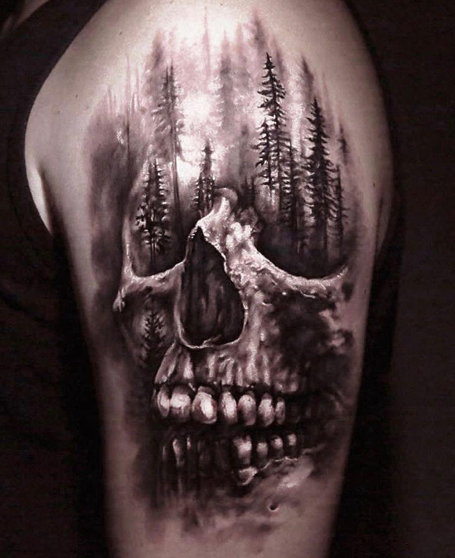 Totenkopf arm männer tattoos Arm Tattoo