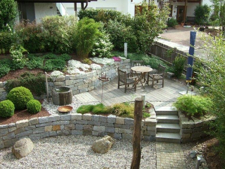 Pin by tereulate on jardines en terreno inclinado en for Jardines en pendiente