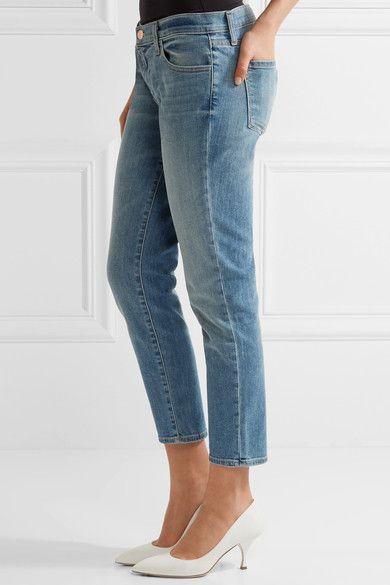 J Brand - Sadey cropped slim boyfriend jeans