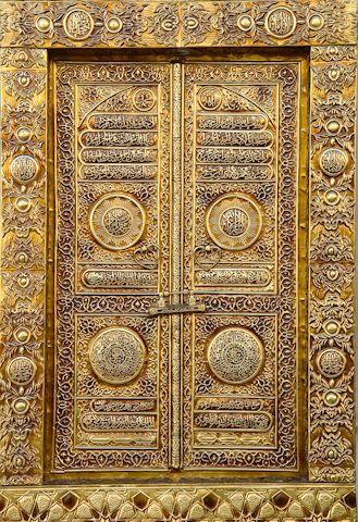 Gold Door In Quatar Cool Doors Old Doors Gold Door