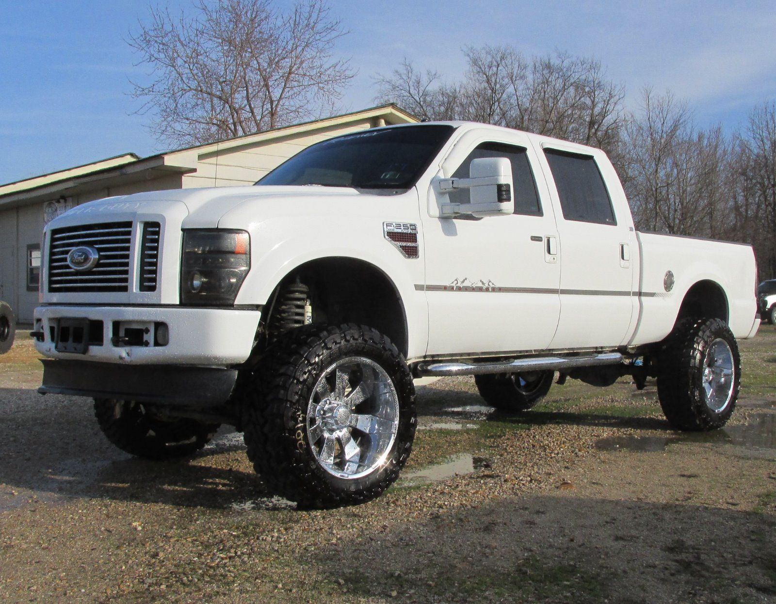 2008 ford super duty regency badlander salvage rebuildable lariat for sale