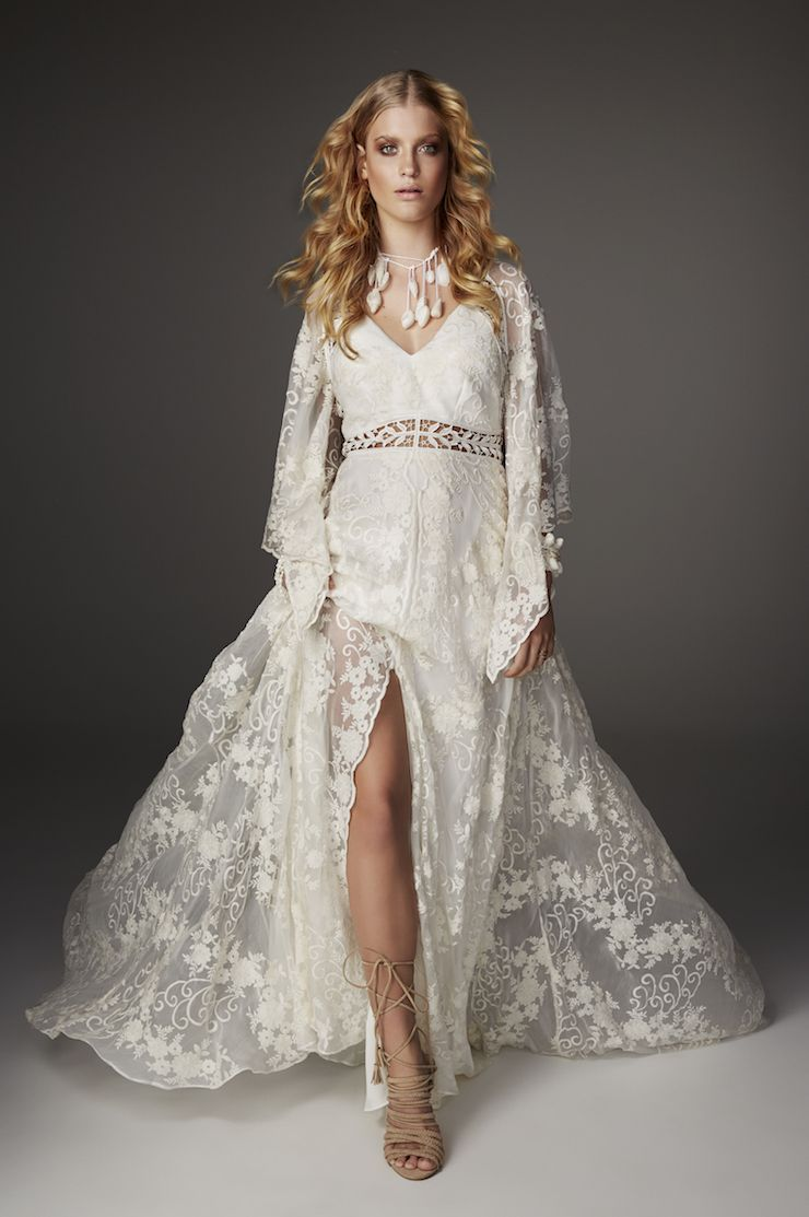 Boho Chic-Rue De Seine bell sleeve wedding dress - 2017 Love Spell ...