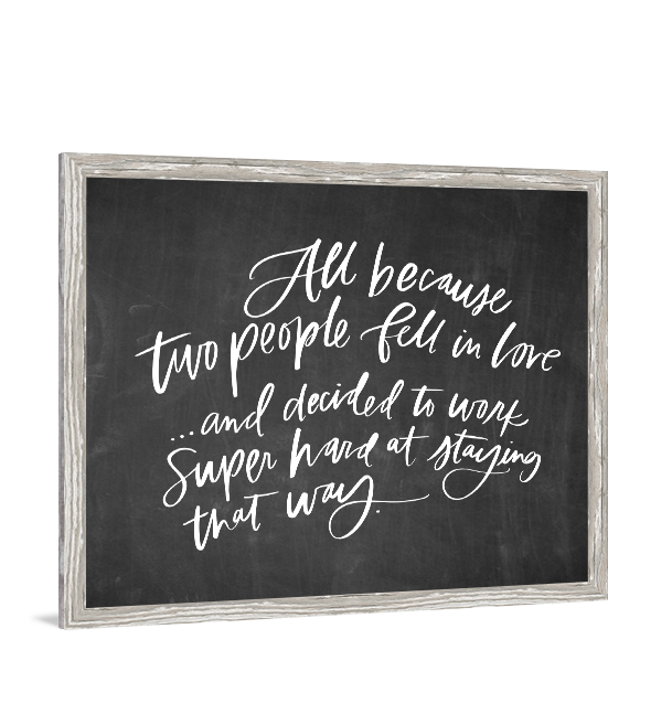 Download All Because Two People | Chalkboard wall art, Typography ...