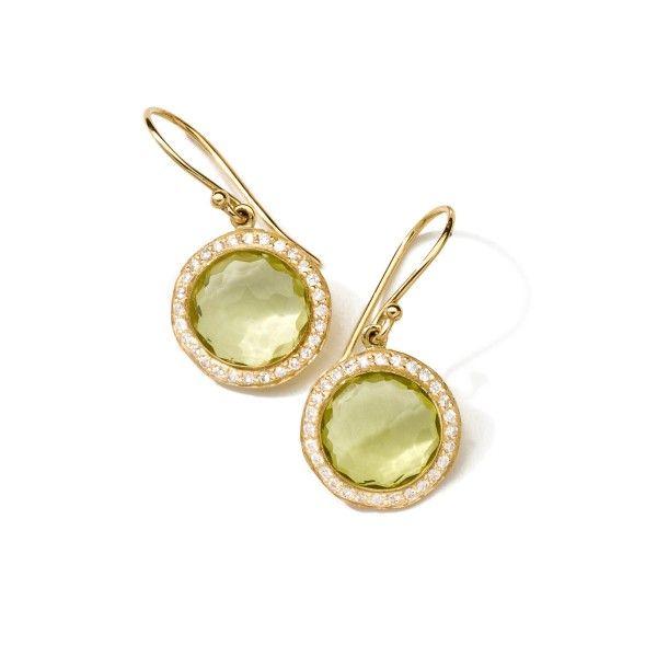 Ippolita 18k Mini Lollipop Earrings with Diamonds 0YvoPm