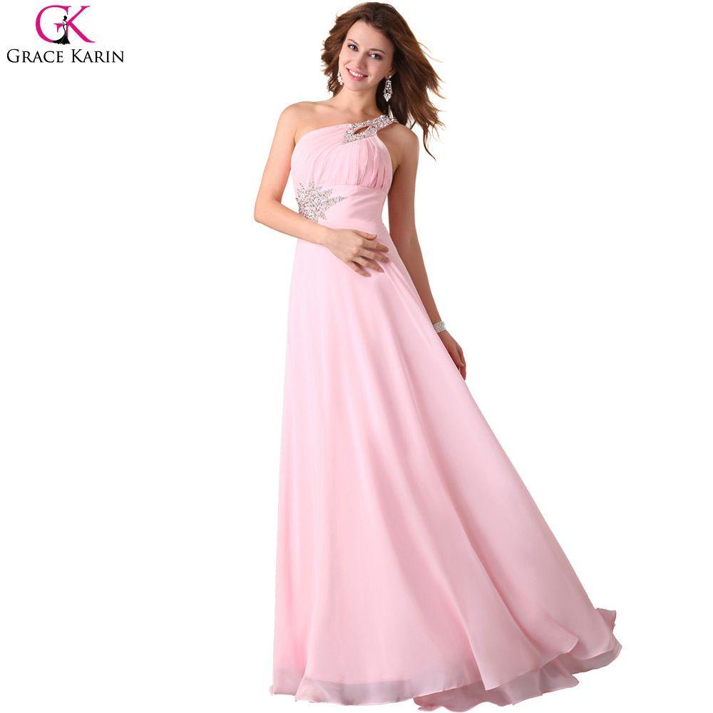 Bridesmaid Grace Karin Dress One-Shoulder Chiffon Gown //Price ...