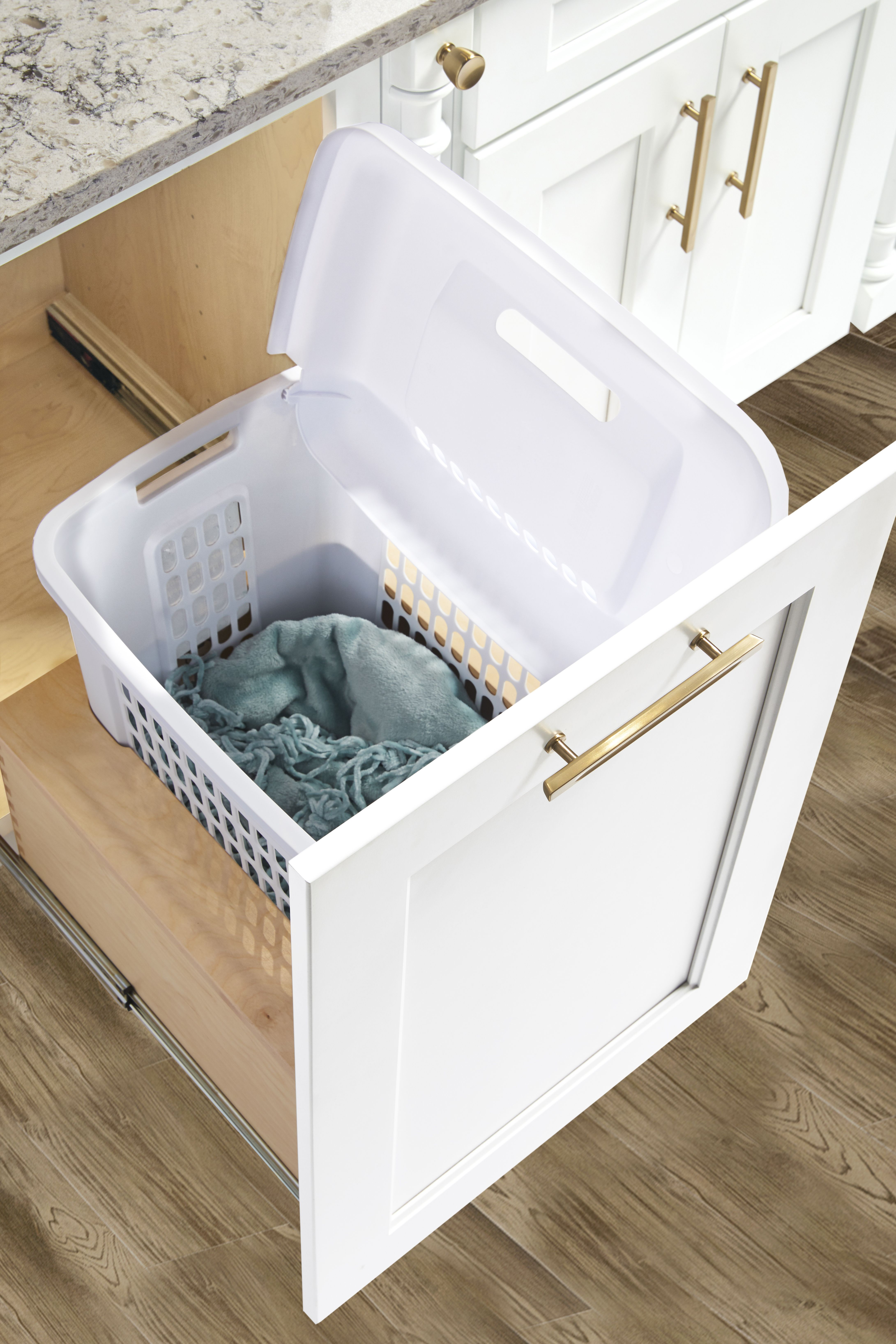 Hamper Pullout Drawer Wellborn Cabinets Dressing Table Room Wellborn