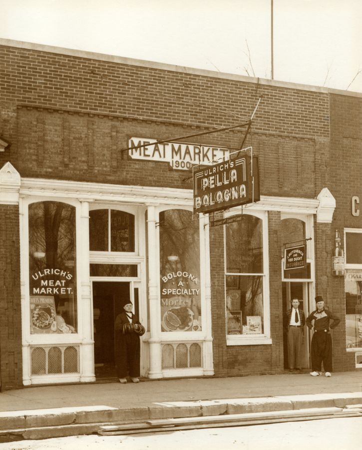 Picture Of Ulrich S Meat Market Circa 1920 My Great Grandfather