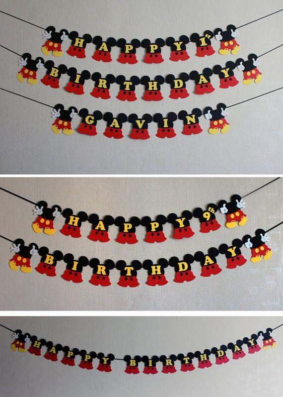 Mickey Mouse birthday decorations Mickey por RaisinsPartySupplies