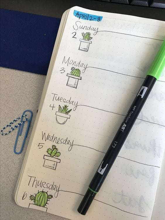 25+ Houseplant Layouts You Need In Your Bullet Journal | ElizabethJournals