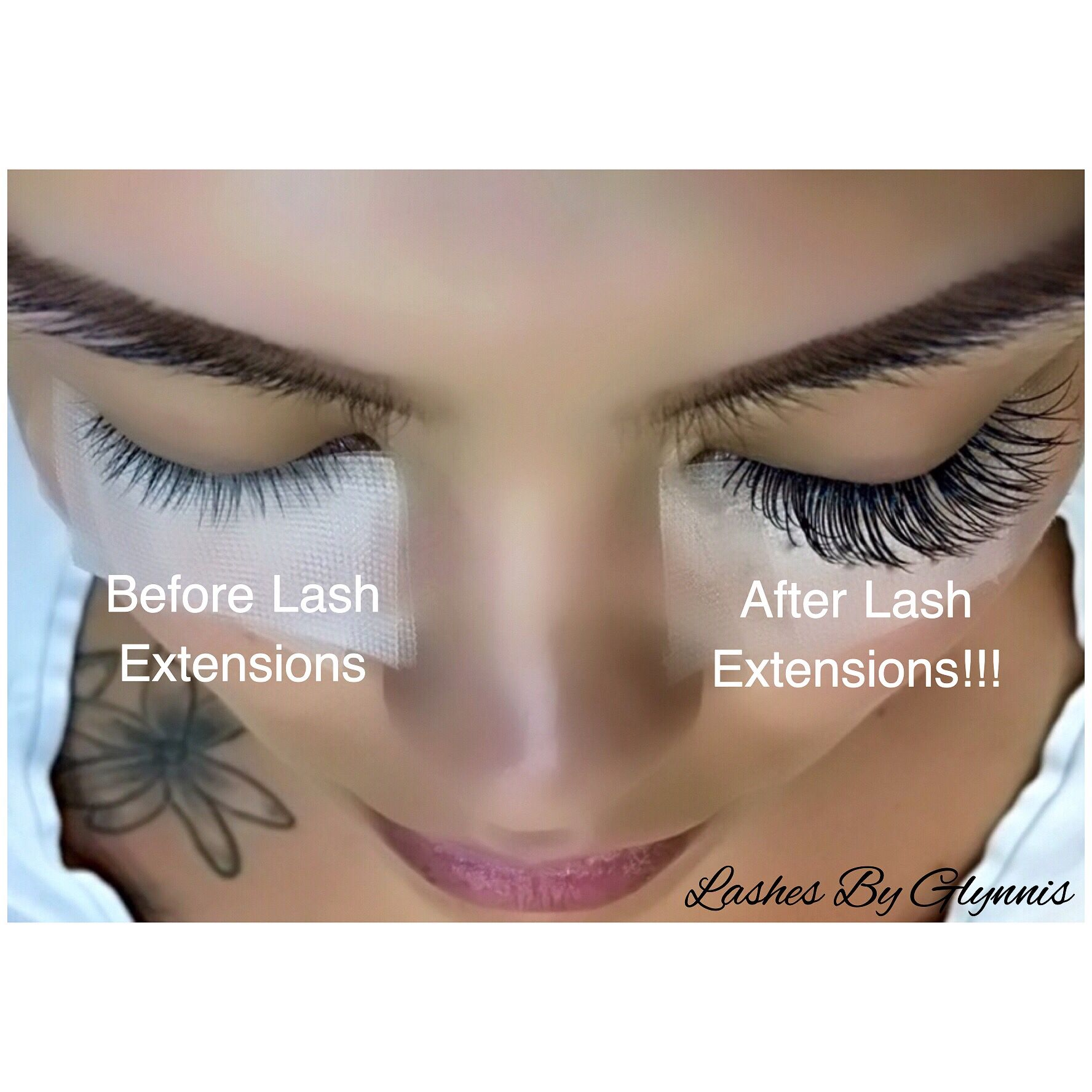 Before & afters. (With images) Lash extensions, Natural