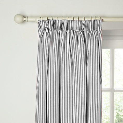 John Lewis Ticking Stripe Lined Pencil Pleat Curtains Online At Johnlewis
