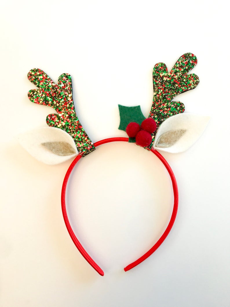 Reindeer Headband Reindeer Antlers Fawn Ears Fawn Etsy Reindeer Headband Reindeer Antlers Christmas Accessories