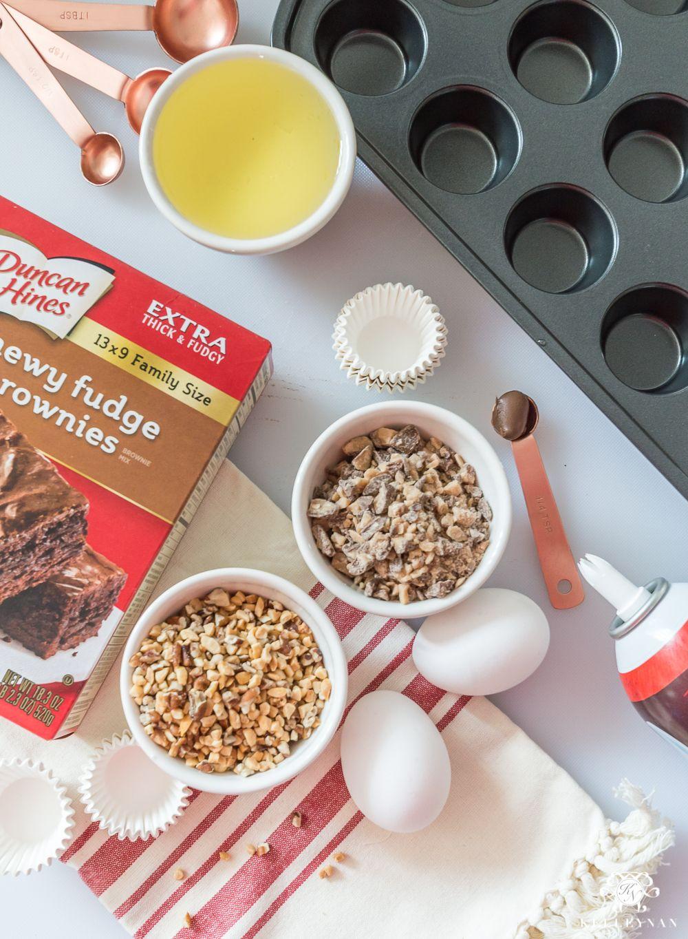 Kelley Nan: Hazelnut Brownie Bite Sundaes – A Christmas Cookie Recipe Exchange