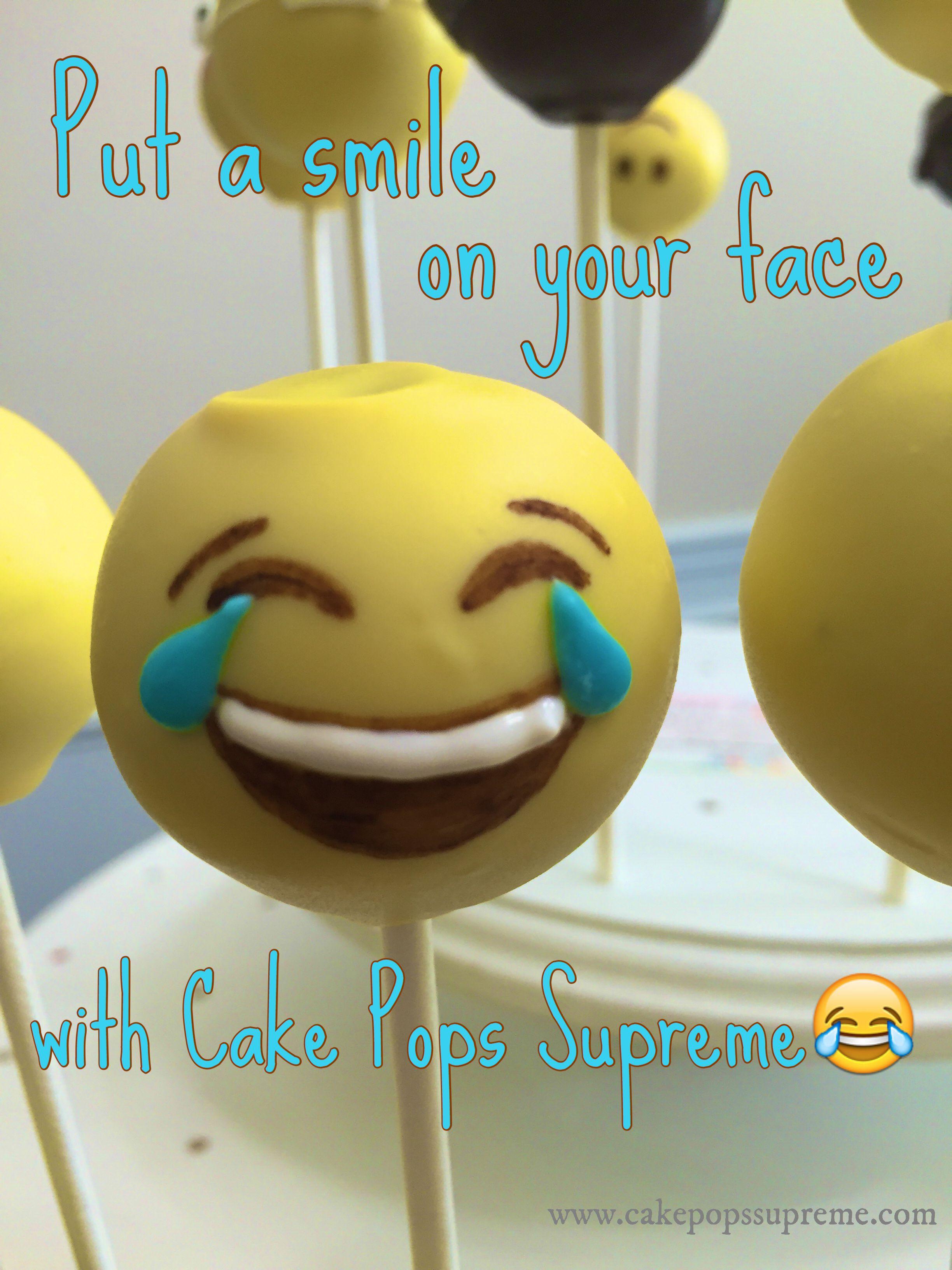Emoji cake pops | Cake Pops Supreme in 2019 | Emoji cake pops, Emoji