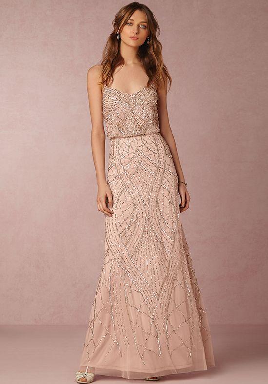 26+ Beaded blush bridesmaid dress ideas