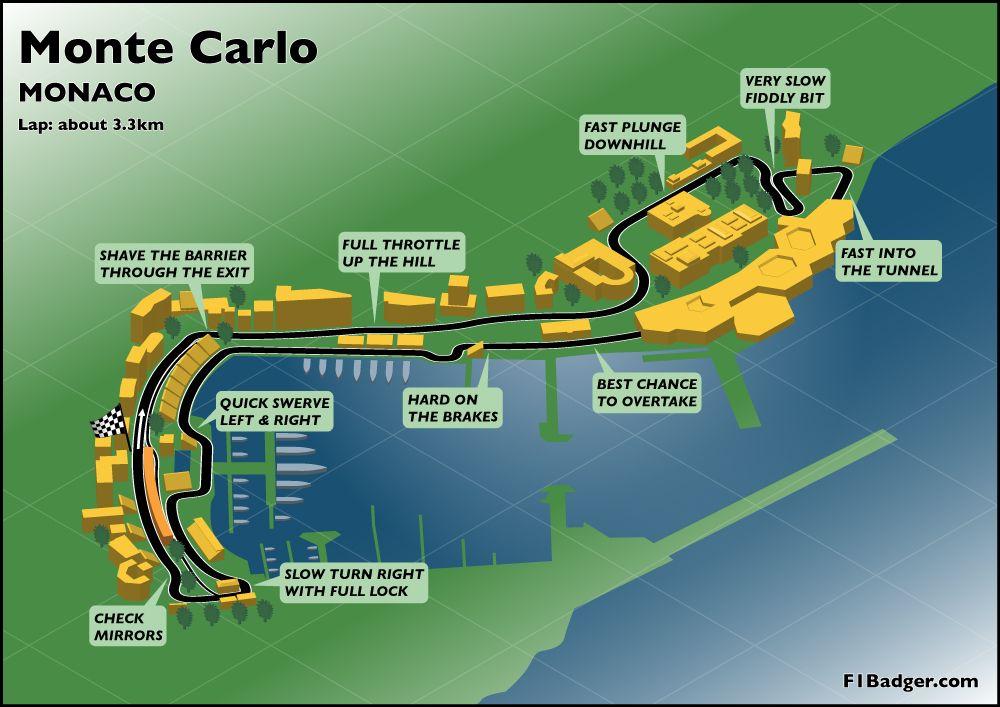 Monte Carlo World Map.Monte Carlo Grand Prix Track Map Mappery Monaco Pinterest