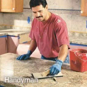 How to Install Granite Tile Countertops (Kitchen Tile)