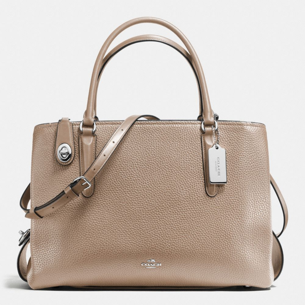 2d5da740d7 Shop The COACH Brooklyn Carryall 34 In Pebble Leather. Enjoy Complimentary  Shipping