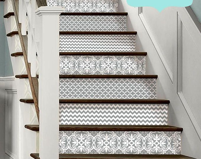 15steps Stair Riser Vinyl Strips Removable Sticker Peel