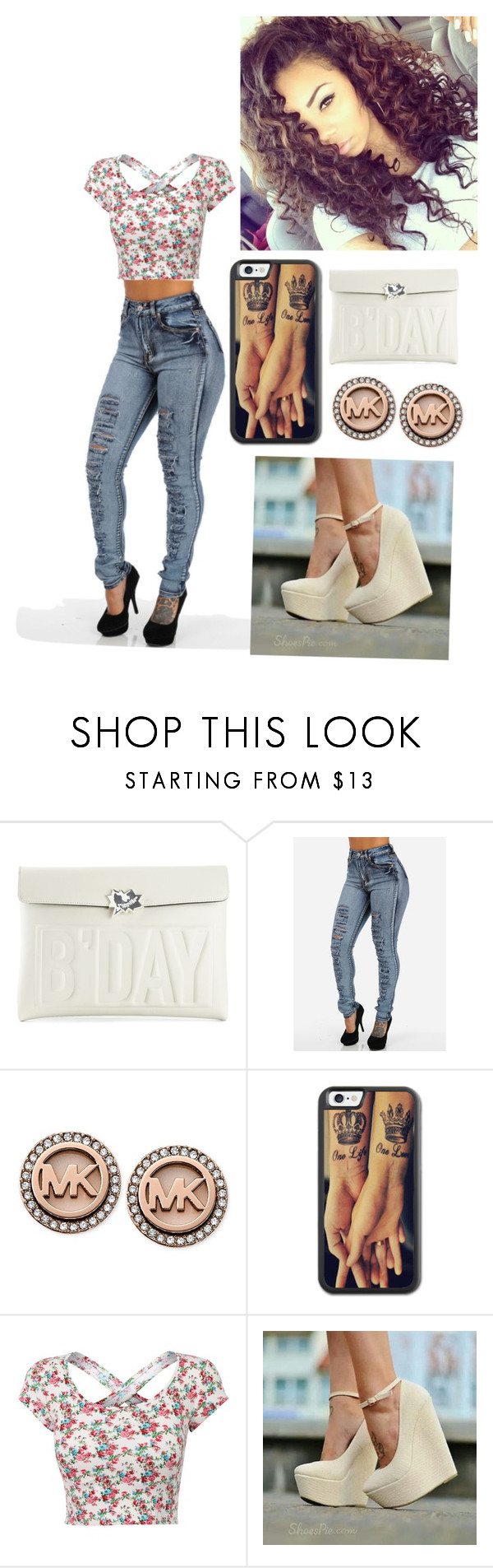 """Untitled #17"" by ricanprincess619 ❤ liked on Polyvore featuring Golden Goose, Michael Kors, women's clothing, women's fashion, women, female, woman, misses and juniors"