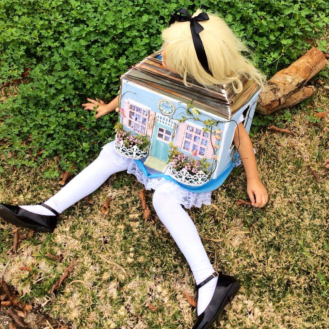 Bookweek costume, Alice in wonderland stuck in rabbits house