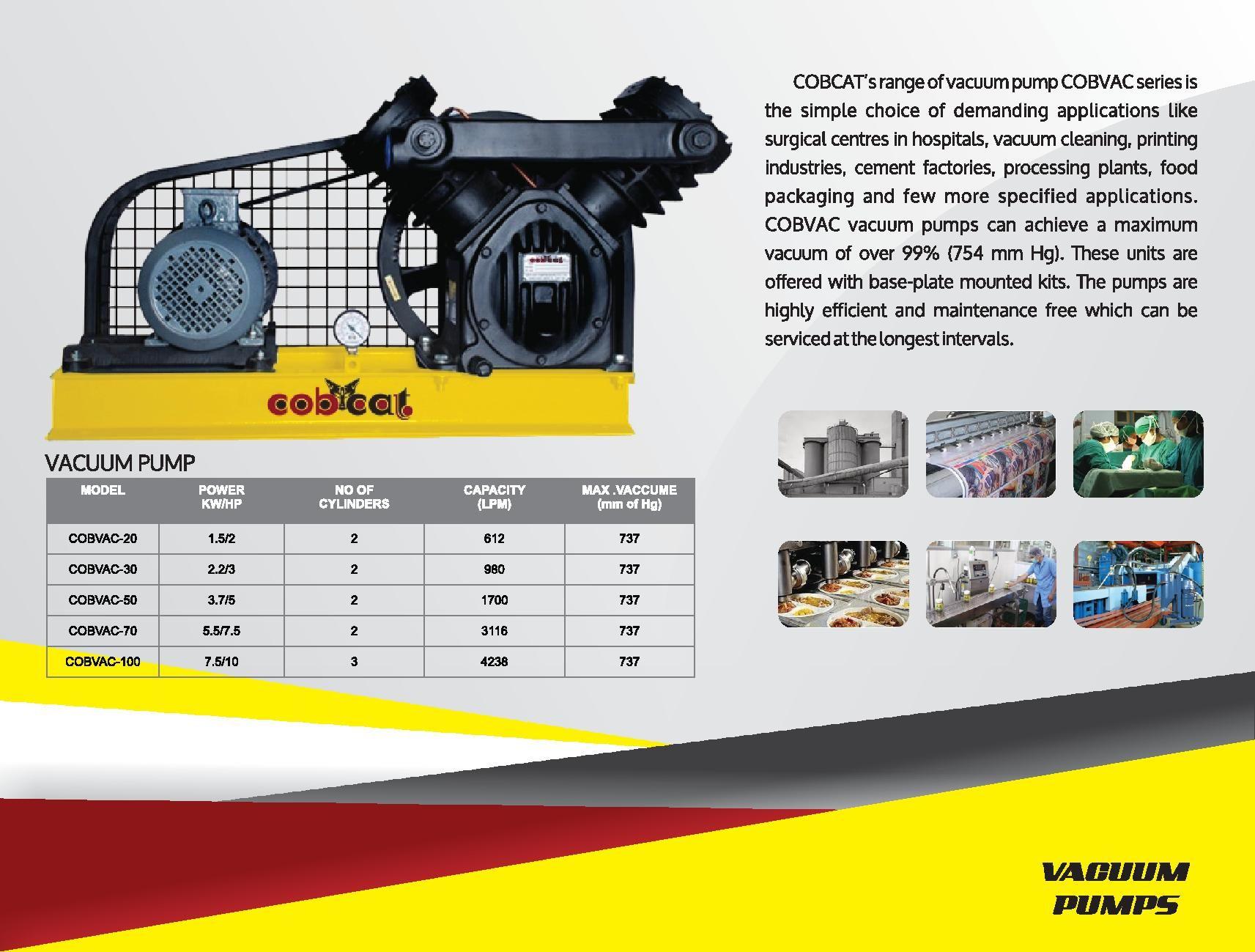 COBCAT vacuum pump manufacturers in coimbatore vacuum