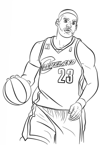 lebron james coloring page | free printable coloring pages | sports coloring pages, coloring