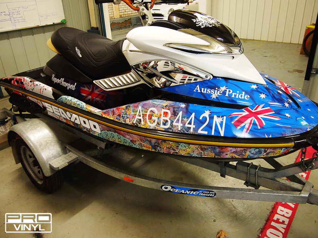 boat wraps rolling out ideas of prosperity and aussie pride this jet ski was - Boat Graphics Designs Ideas