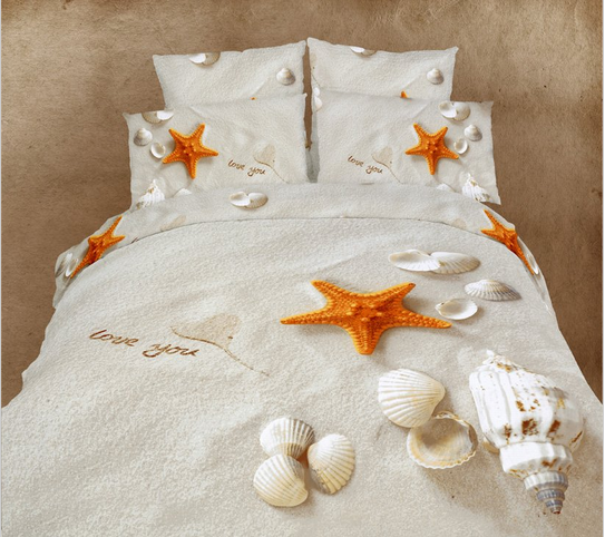 Starfish Duvet Cover (Queen) ♥ Darn I wish I could use this in the dorm room! It's so beautiful!