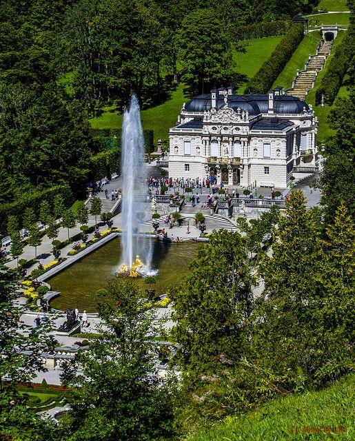 Schlosspark Linderhof Konigliche Villa Linderhof Palace Germany Castles Bavaria Germany