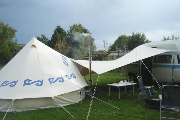 The Spinnaker Tarp is used to join the Bell Tent to the C&ervanjoin & The Spinnaker Tarp is used to join the Bell Tent to the ...