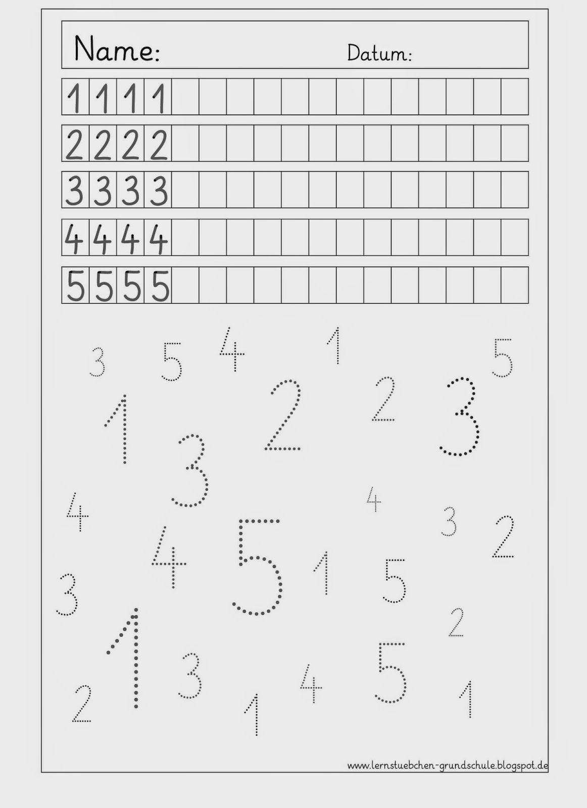 Ziffernschreibkurs - 8 AB´s zur Wiederholung | Wiederholung, Mathe ...