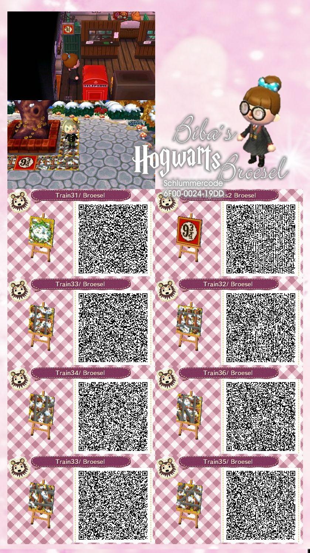 Platform 9 3 4 Hogwarts Express Station Zug Eisenbahn Schiene Train Wizard Zauberer Animal Crossing Qr Codes Animal Crossing Animal Crossing Qr