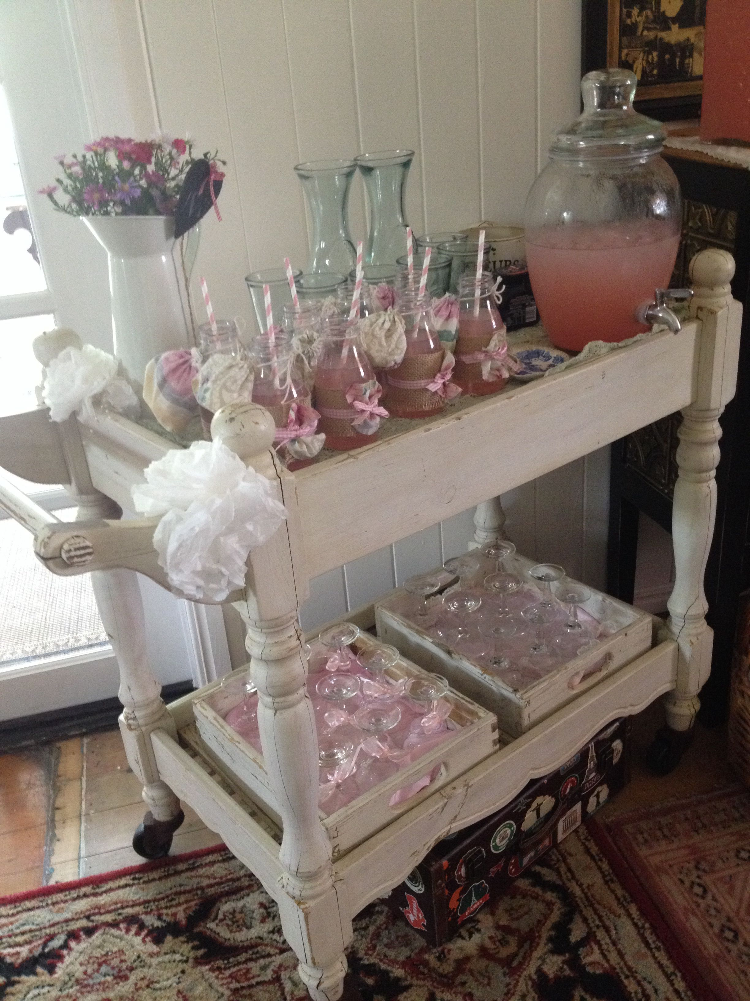 Vintage Baby Shower Drinks Trolley Ohh Baby Baby