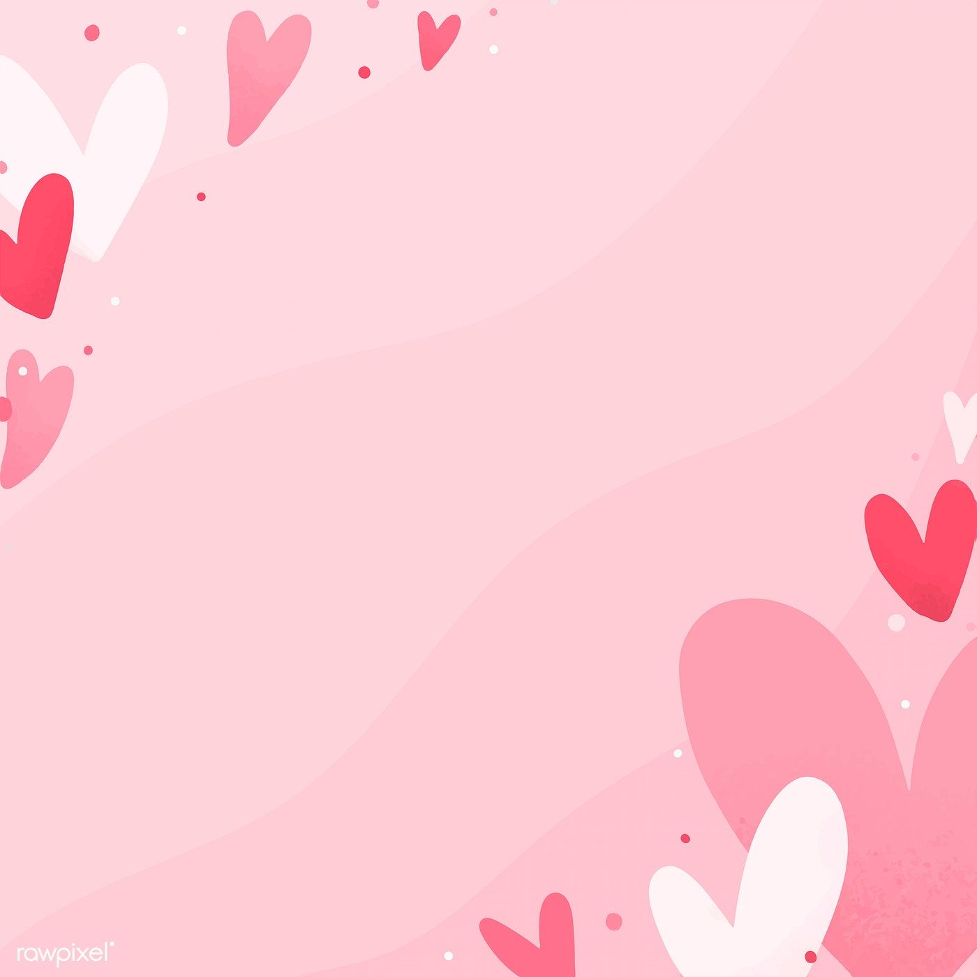 Valentines Day Card Vector Design With Copy Space Free Image By