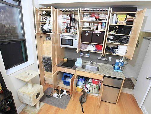 Un Apartamento De 16 Metros Cuadrados Viviendas Diminutas Estudio Diminuto Apartamentos
