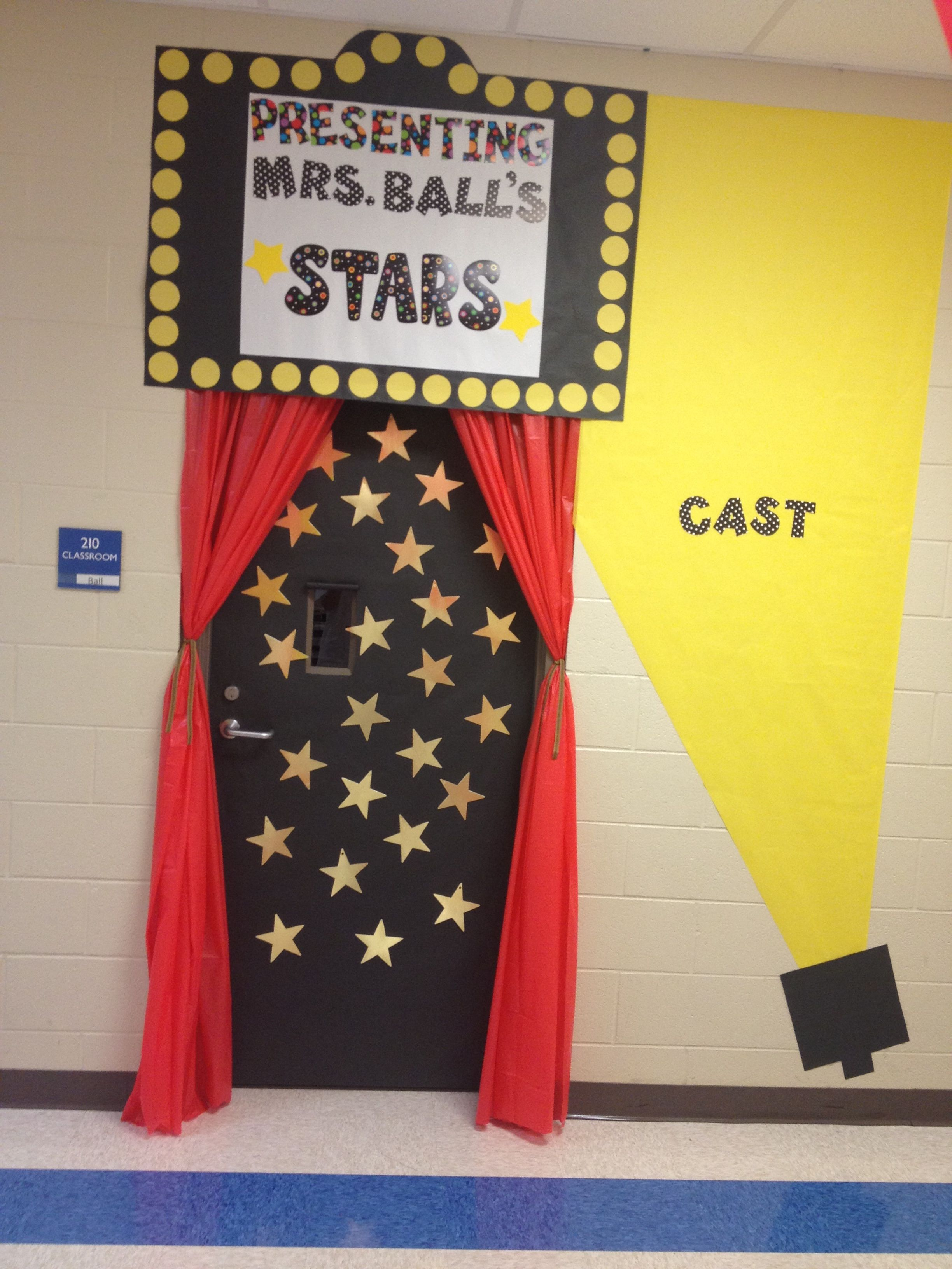 Hollywood classroom door & Hollywood classroom door | Back to School | Pinterest | Classroom ...