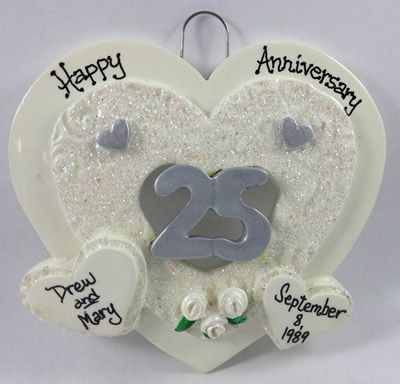 Celebrate With This Beautiful Customizable Ornament Only 11 49 Www 25th Anniversarypersonalized Weddingchristmas