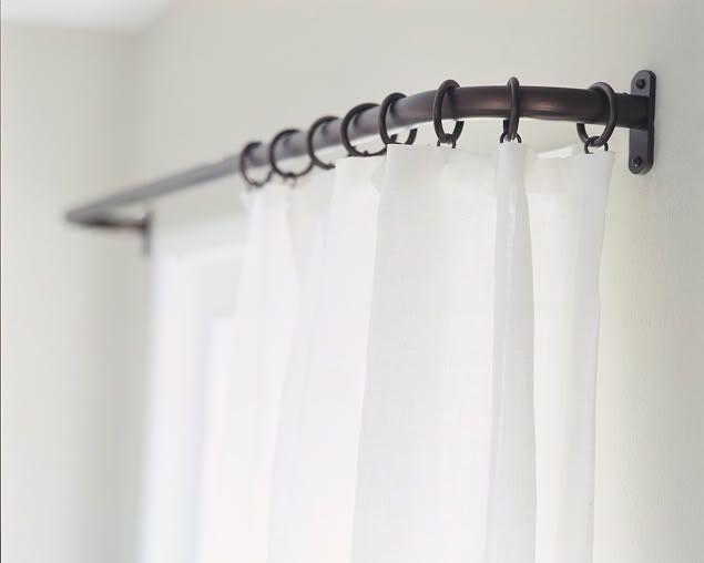 curtains curtain decor french curtain rod