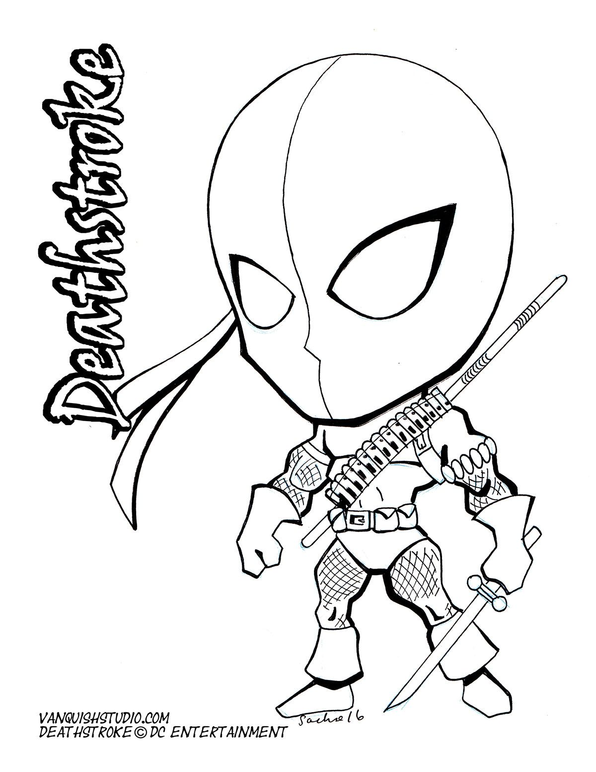 Chibi Style Fusion Of American And Japanese Art Deathstroke