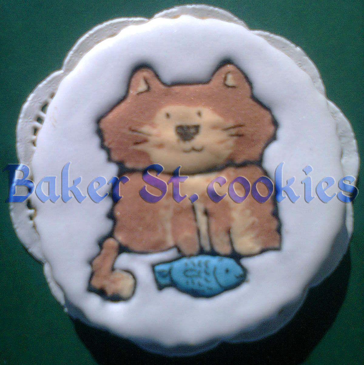 Кот, рыжий, рыба, усы, печенье, айсинг, Херсон, Украина.