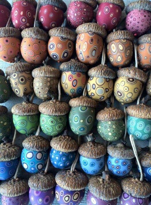 Fimo Acorns Acorn Crafts Acorn Ornaments Pine Cone Crafts