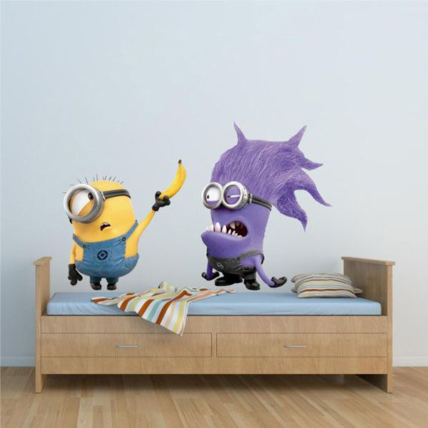 Minion Wall Decor minion wall decals | minion wallpaper is the easiest way to kids