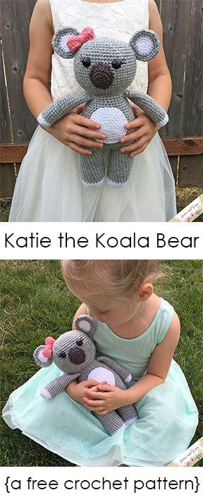 Amigurumi Koala Bear - A Free Crochet Pattern #crochetbearpatterns