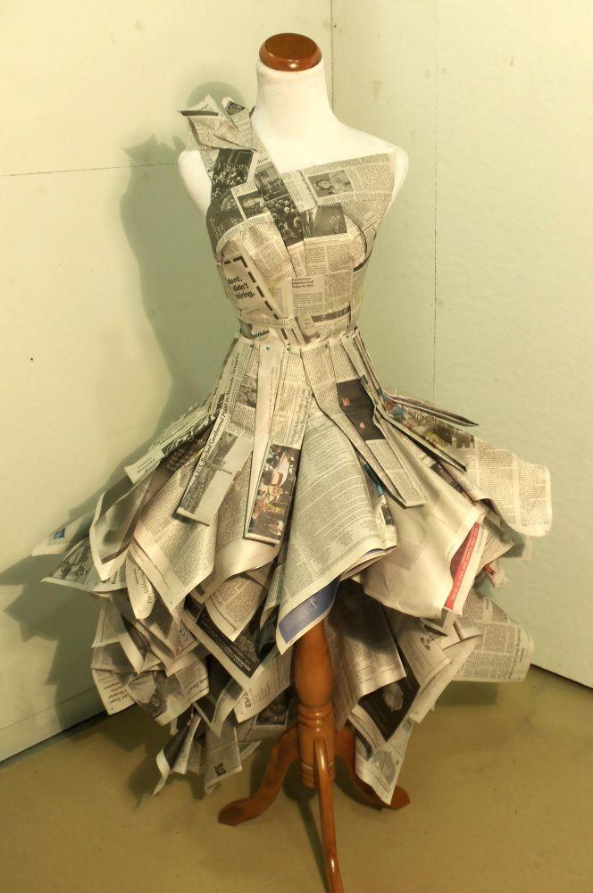 Newspaper Dress by Katie Mamula at Coroflot.com | эко-костюм ...