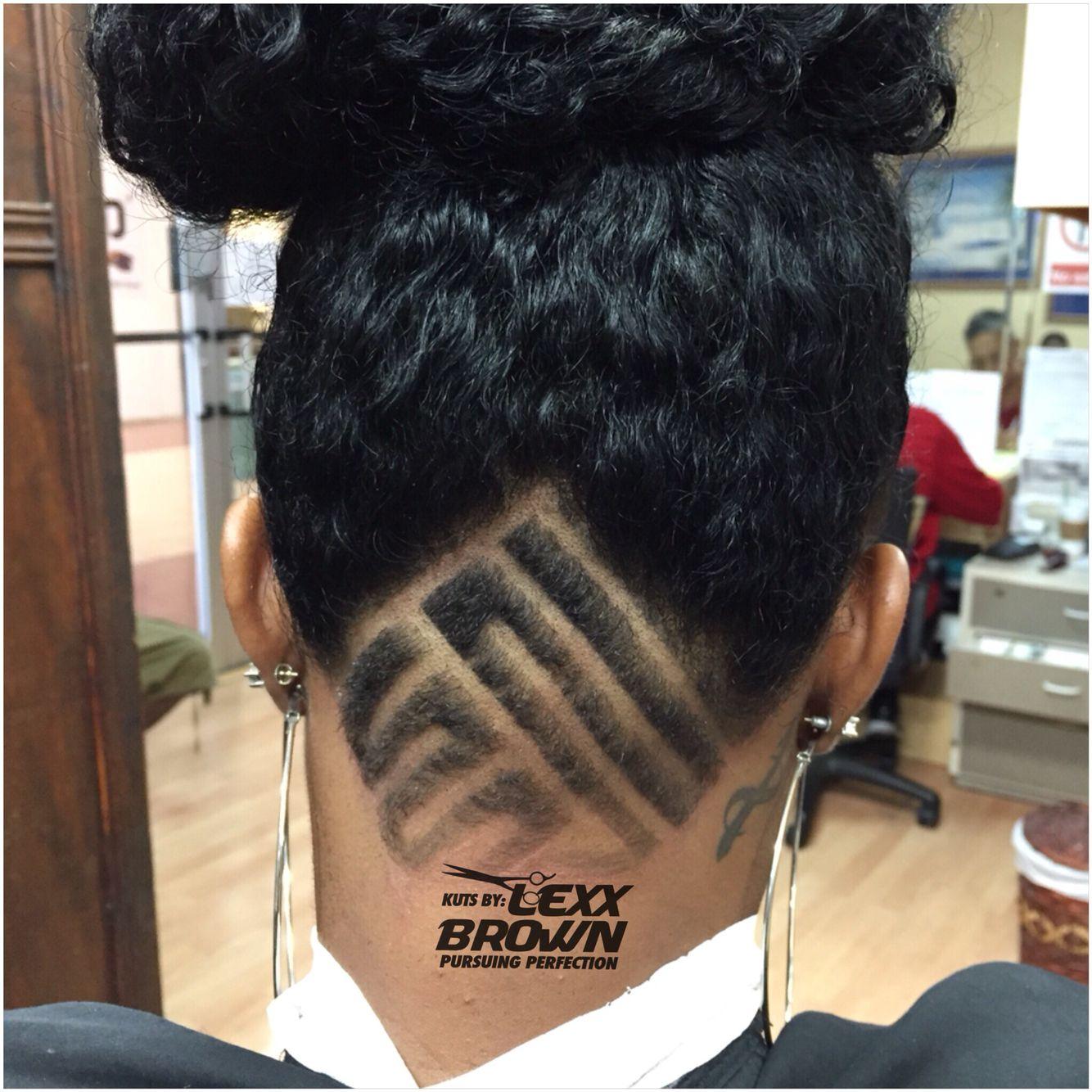 kuts by #lexxbrown. she got a undercut with design #hair #hairart