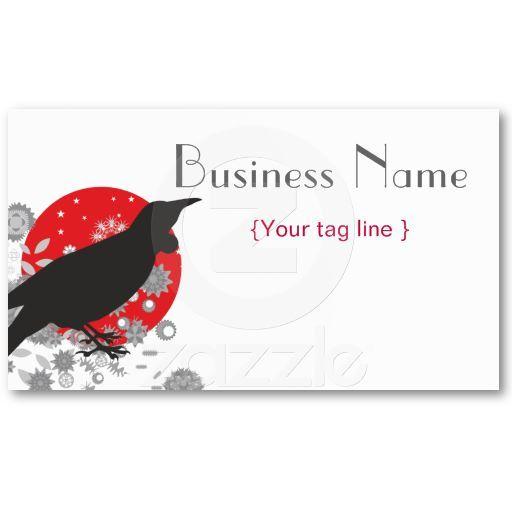 Cool Crow Bird Business Card Template