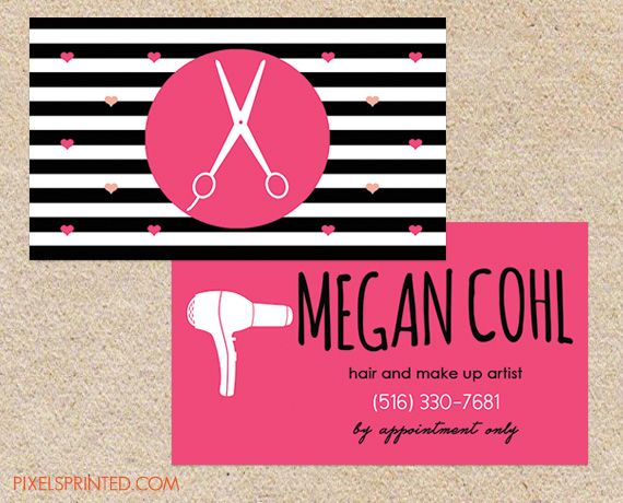 Hairstylist Business Cards Hair Stylist Salon